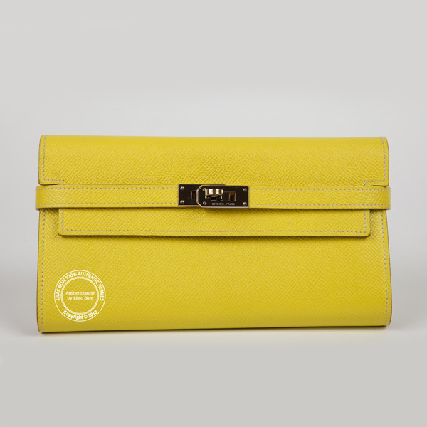 hermes kelly wallet yellow - photo #21