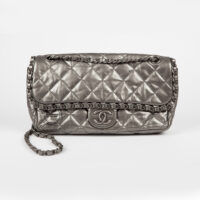 Chanel 2.55 in Metallic Grey 600