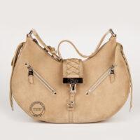 Christian Dior Beige Suede Small Shoulder Bag 600