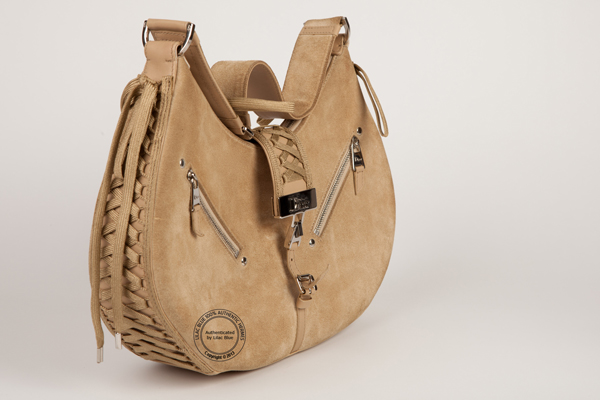 Dior Beige Suede Small Shoulder Bag