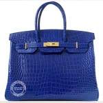 Electric Blue Birkin in Shiny Crocodile.