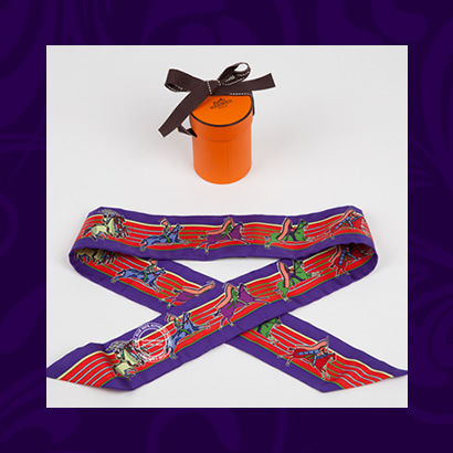 Hermes Twilly Pani La Shar Pawnee- purple and red