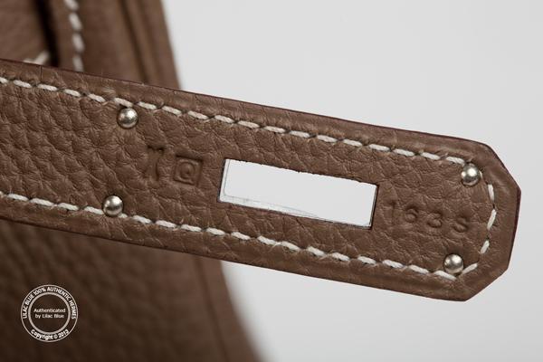 green birkin bag - 35cm Etoupe Kelly. Togo, Palladium - Lilac Blue