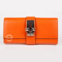 Hermes Orange Clutch 600