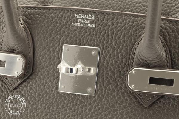 3ec2251ee049 Hermes Birkin 30cm Etain Clemence PHW - Lilac Blue