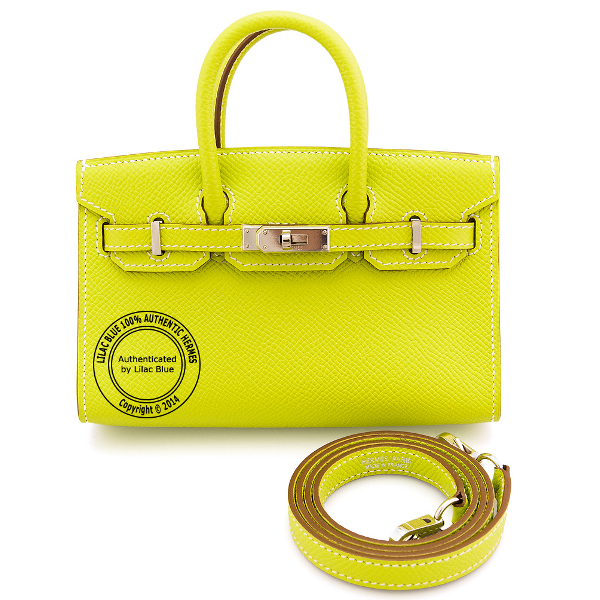 Tiny Birkin Lime Epsom Palladium
