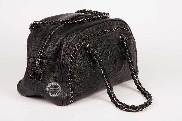 78097ffe4b73 Chanel Metallic Grey Chain Bag - Preloved - Lilac Blue