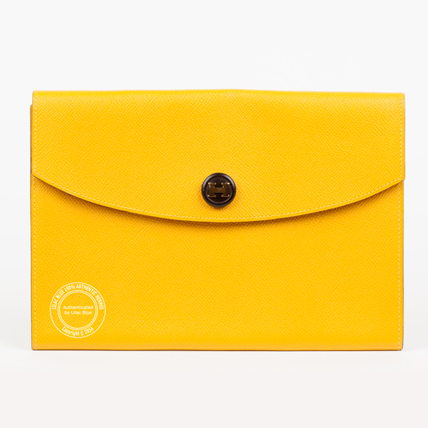 shop for original best price exceptional range of styles and colors Hermes Rio Envelope Clutch 24cm Yellow Epsom