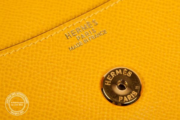 5edfe4786d94 Hermes Rio Envelope Clutch 24cm Yellow Epsom - Lilac Blue
