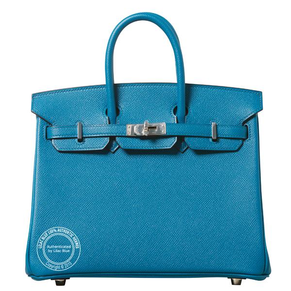 7571da29f5f9 Hermes Birkin 25cm Bleu Izmir Epsom PHW - Lilac Blue