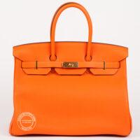35cm Feu Orange Birkin with Gold 600