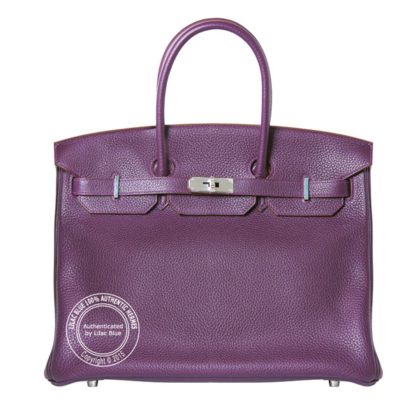 35cm Raisin Birkin in Taurillon Clemence with Palladium