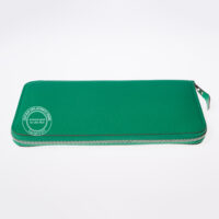 hermes Azap mint green wallet