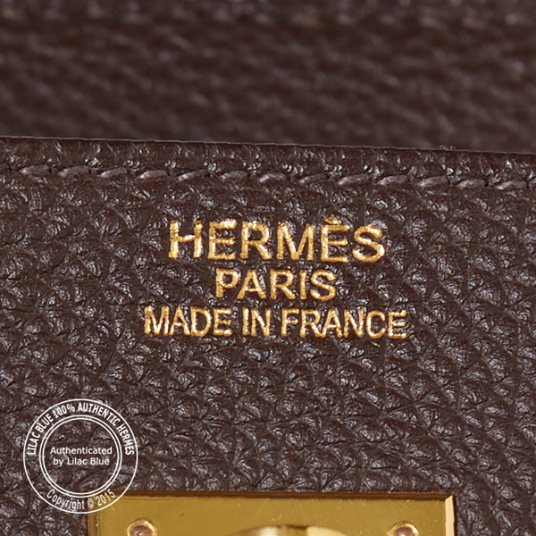 6d44784c4a9 Hermes Birkin 40cm Cacao Togo GHW Preloved - Lilac Blue