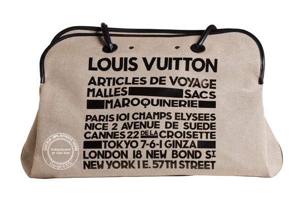Louis Vuitton Special Edition Travel Beach Bag - Preloved - Lilac Blue 1bf95179193ca