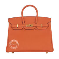 25cm Orange Birkin Togo Gold