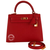 hermes kelly 32 waffle rouge h boxcalf leather
