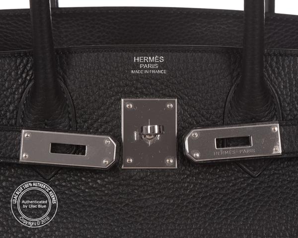 hermes 30cm black togo birkin bag with palladium hardware