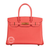 30cm Rose Jaipur Birkin in Epsom Leather with Gold