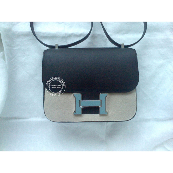 hermes birkin pink ostrich leather - 18cm Black Mini Constance. Epsom, Blue St Cyr - Lilac Blue