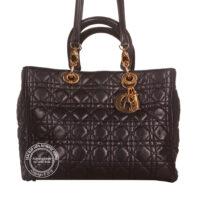 Christian Dior Black Bag with Gold Hardware 2