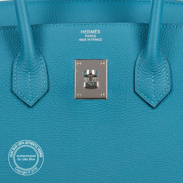 2a78b4bf1a Hermes Birkin 35cm Turquoise Togo PHW - Lilac Blue