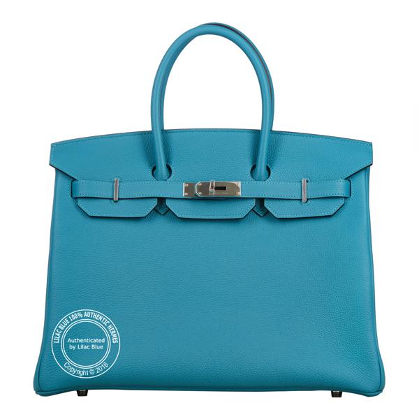 e4bf1cd32083 Hermes Birkin 35cm Turquoise Togo PHW - Lilac Blue