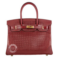 30cm Bourgogne & Rouge H Ghillies Birkin tri leather wgh main