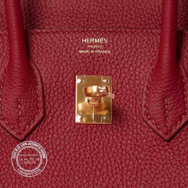 34429bf187e4 Hermes Birkin 25cm Rouge Grenat Togo GHW - Lilac Blue