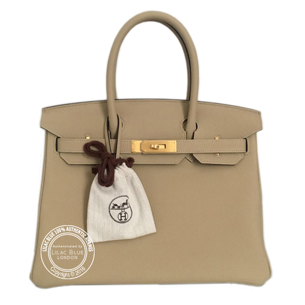30cm Trench Birkin with Gold plain