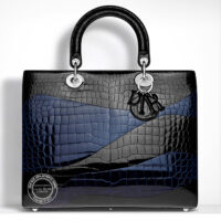 Large Lady Christian Dior Bag in Shiny Alligator