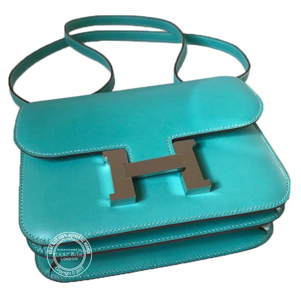 741f376a522f Hermes Constance 18cm Lagoon Tadelakt PHW - Lilac Blue