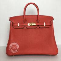 25cm Rouge Tomate Birkin in Swift with Gold