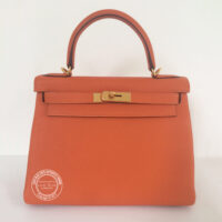 28cm Orange Kelly in Togo with Gold_1