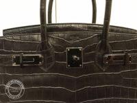 30cm So Black Birkin in Crocodile PL handles