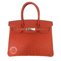 30cm Tangerine Birkin in Ostrich with Gold