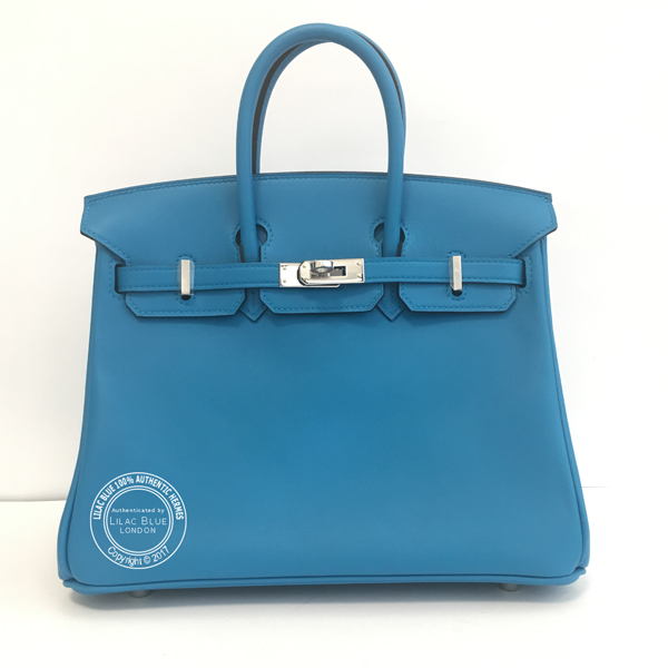25cm Bleu Zanzibar Birkin in Swift with Palladium