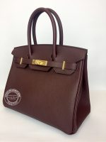 30cm Bordeaux Birkin in Togo with Gold side1