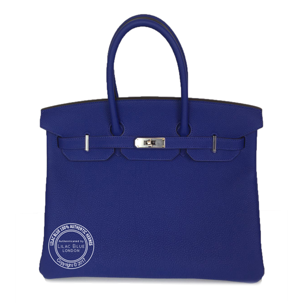 35cm Bleu Electrique Birkin in Togo with Palladium J