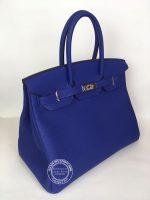 35cm Bleu Electrique Birkin in Togo with Palladium angle J
