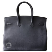 35cm Bleu Nuit Birkin in Togo with Palladium back