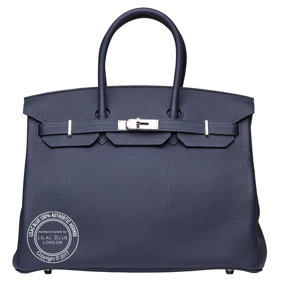35cm Bleu Nuit Birkin in Togo with Palladium updated