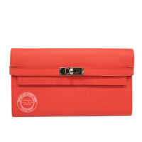 Rose Jaipur Kelly Wallet in Epsom with Palladium