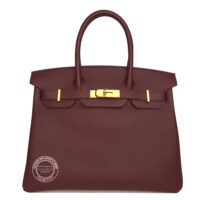 30cm Bordeaux Birkin in Togo with Gold