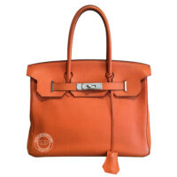 30cm Orange Birkin in Togo with Palladium PL