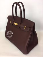 35cm Bordeaux Birkin in Togo with Gold side