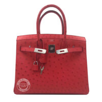 30cm Rouge Exotique Birkin in Ostrich with Palladium