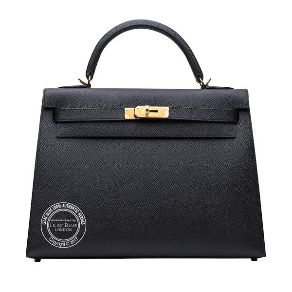 Hermes Kelly 32cm Black Epsom GHW