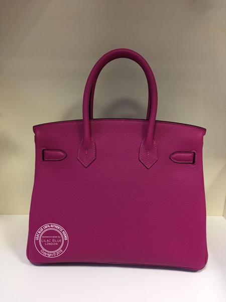Hermes Birkin 30cm Rose Pourpre Togo PHW - Lilac Blue c754c3f25a854