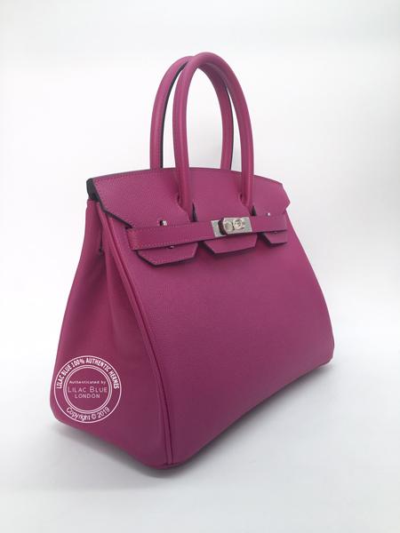 3186836e0509 Hermes Birkin 30cm Rose Pourpre Epsom PHW - Lilac Blue